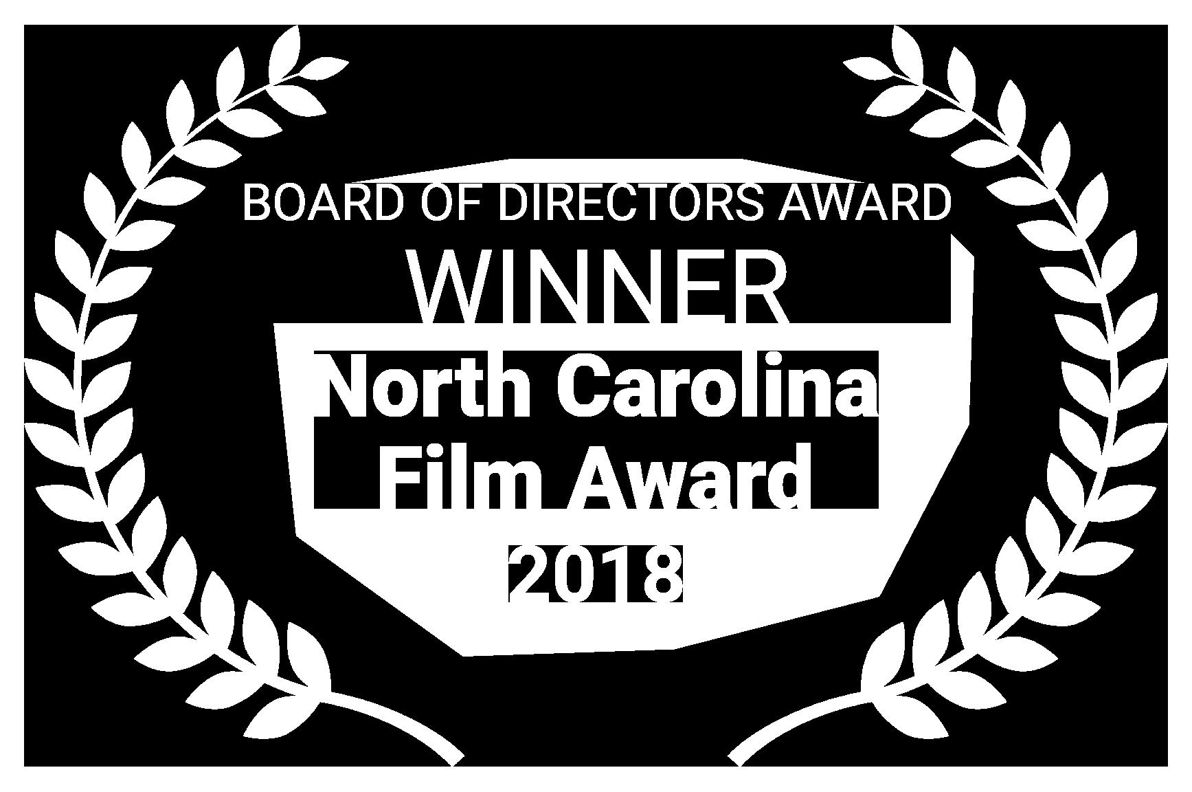 WINNER North Carolina Film Award 2018